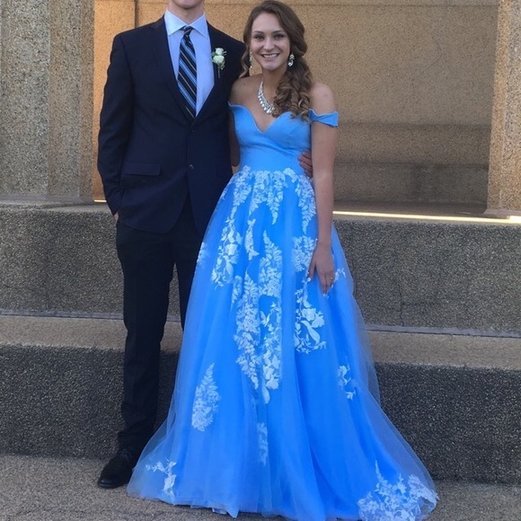 Beaded Gowns Tagged 100 200 The Deco Haus: Cinderella Blue Prom Gown